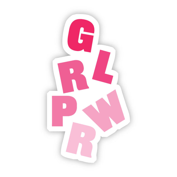 Girl Power Red Sticker