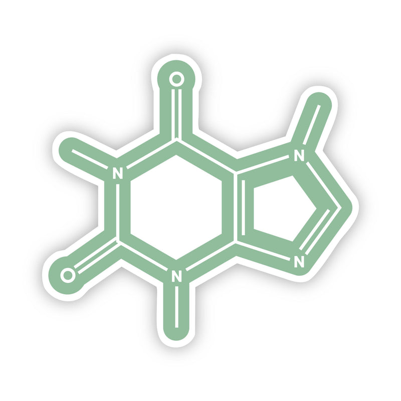 Caffeine Chemistry Green Sticker