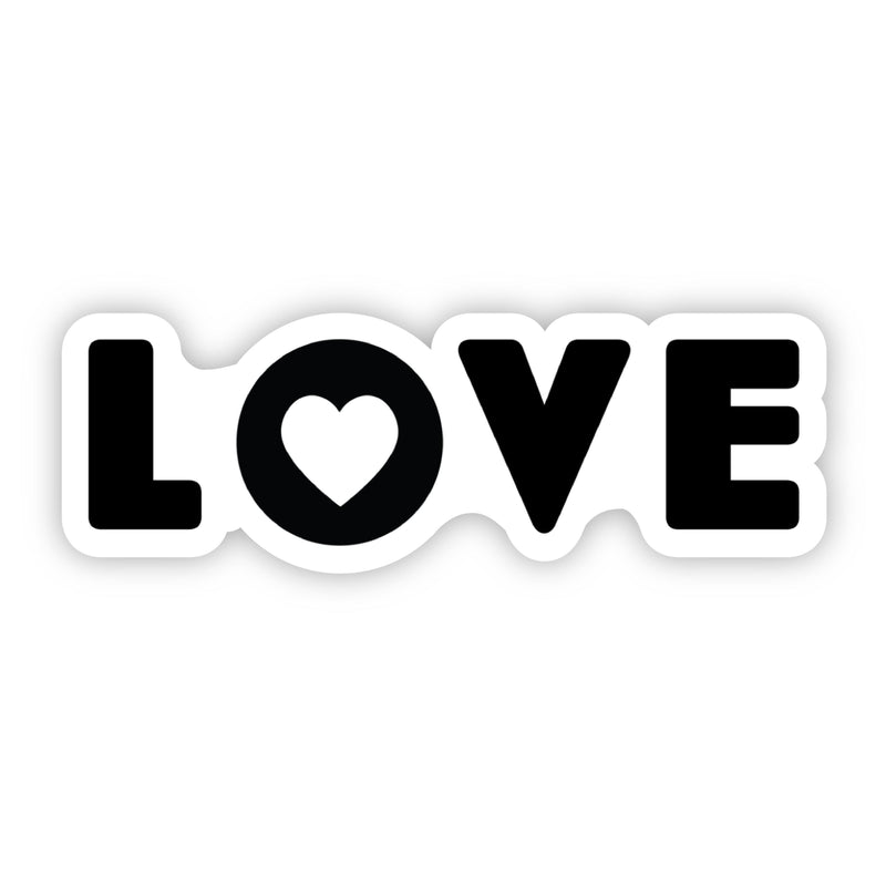 Love Lettering with Heart Sticker