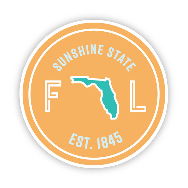 Sunshine State Florida Sticker