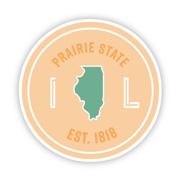 Prairie State Illinois Sticker