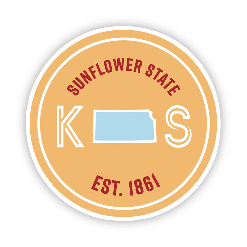 Sunflower State Kansas Sticker