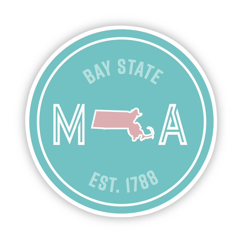 Bay State Massachusetts Sticker