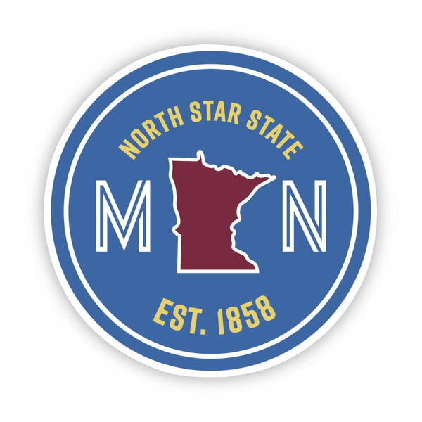 North Star State Minnesota Sticker