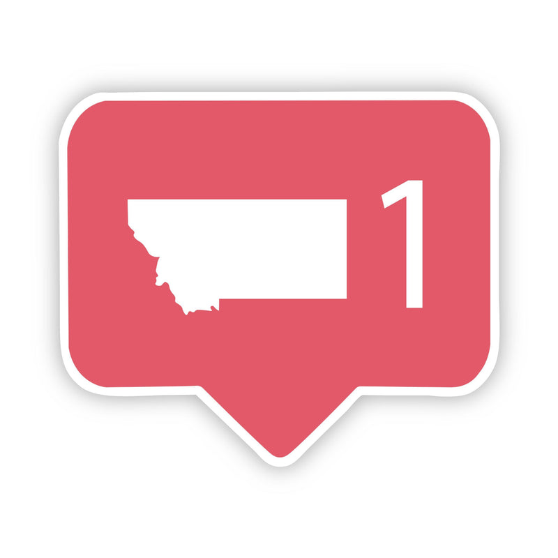 Montana Social Media Comment Sticker