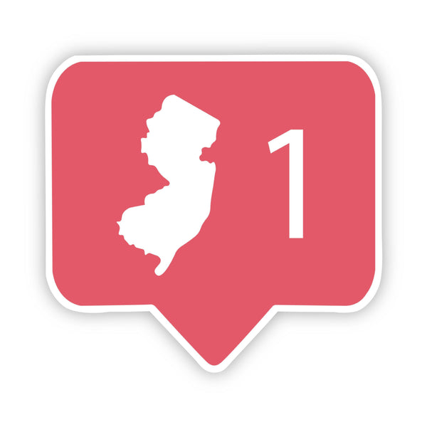 New Jersey Social Media Comment Sticker