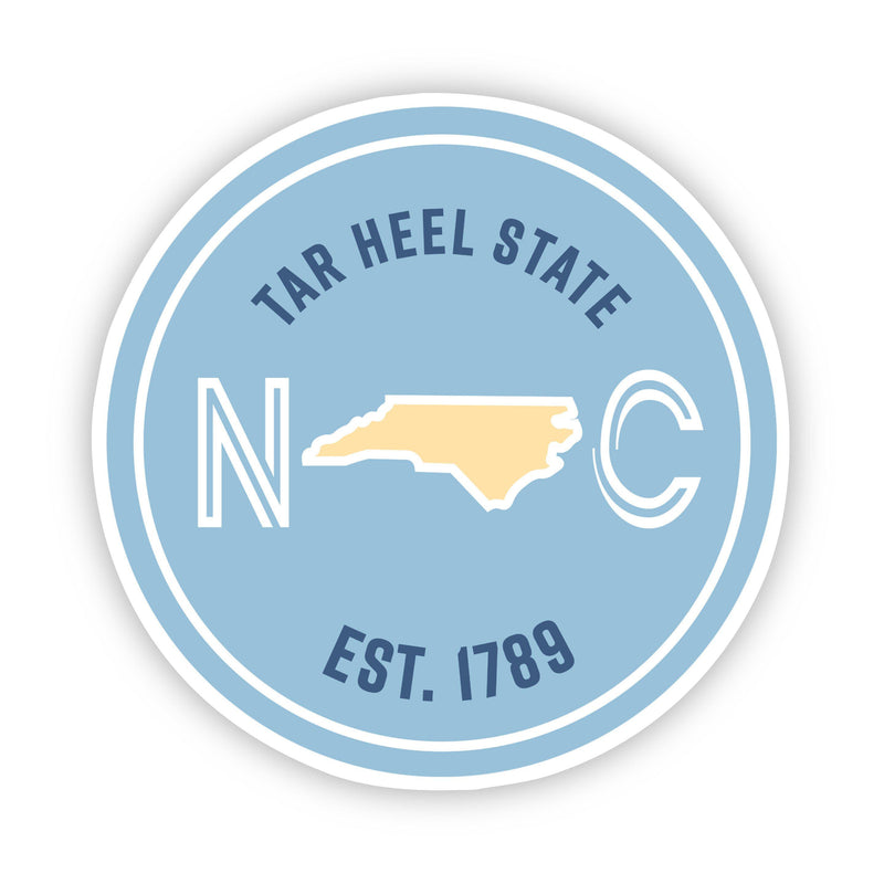 Tar Heel State North Carolina Sticker