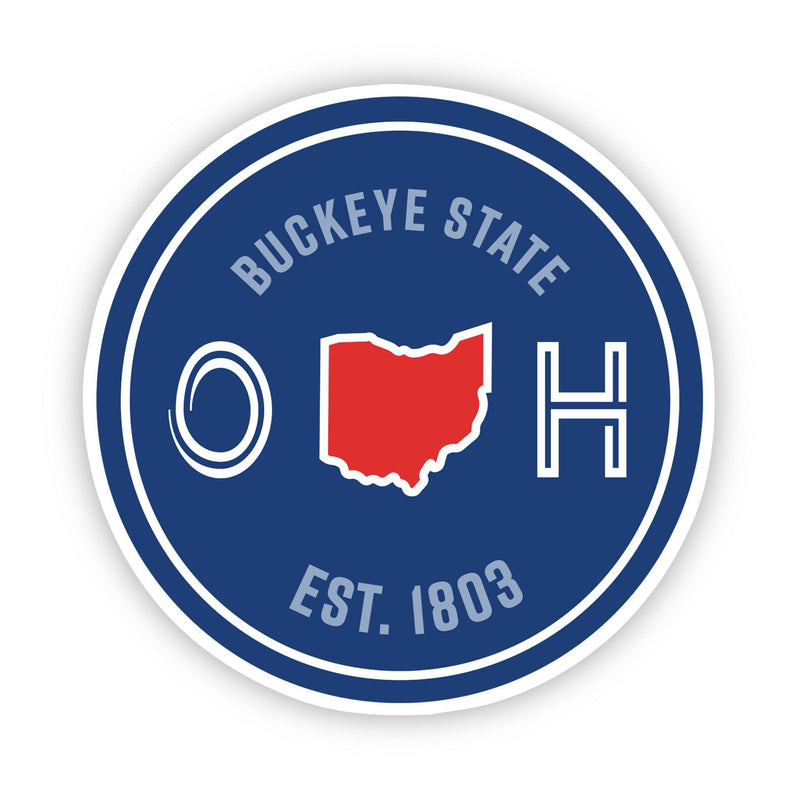Buckeye State Ohio Sticker