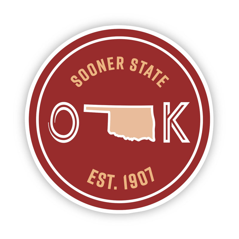 Sooner State Oklahoma Sticker