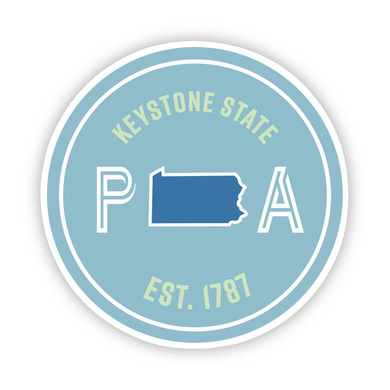 Keystone State Pennsylvania Sticker