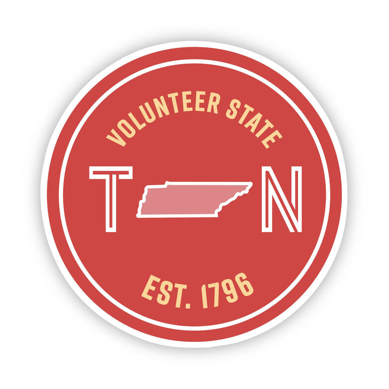 Volunteer State Tennessee Sticker