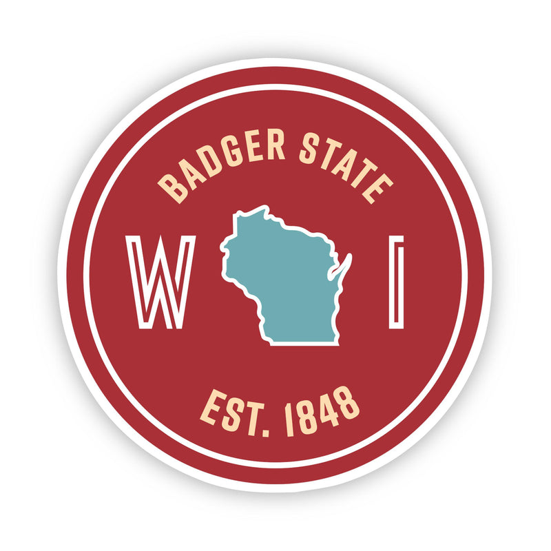Badger State Wisconsin Sticker