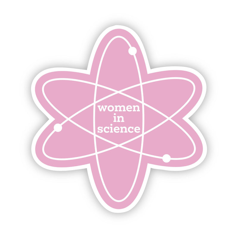 Women in Science Light Pink Sticker