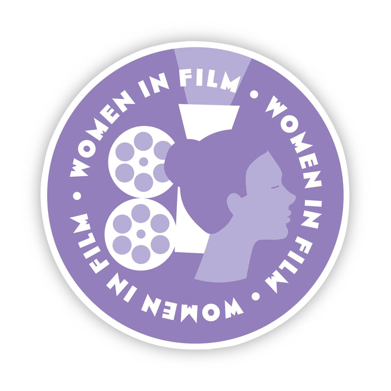 Women in Film Purple Sticker
