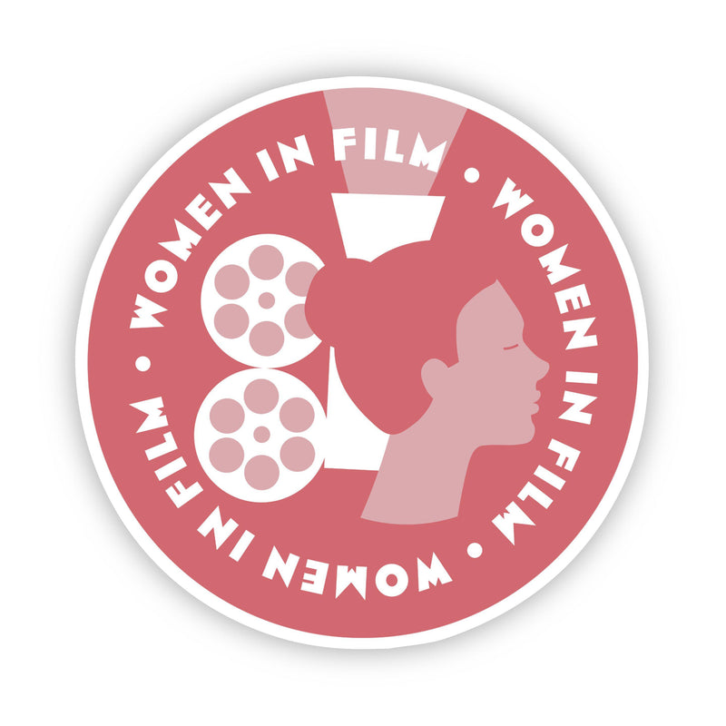 Women in Film Red Sticker