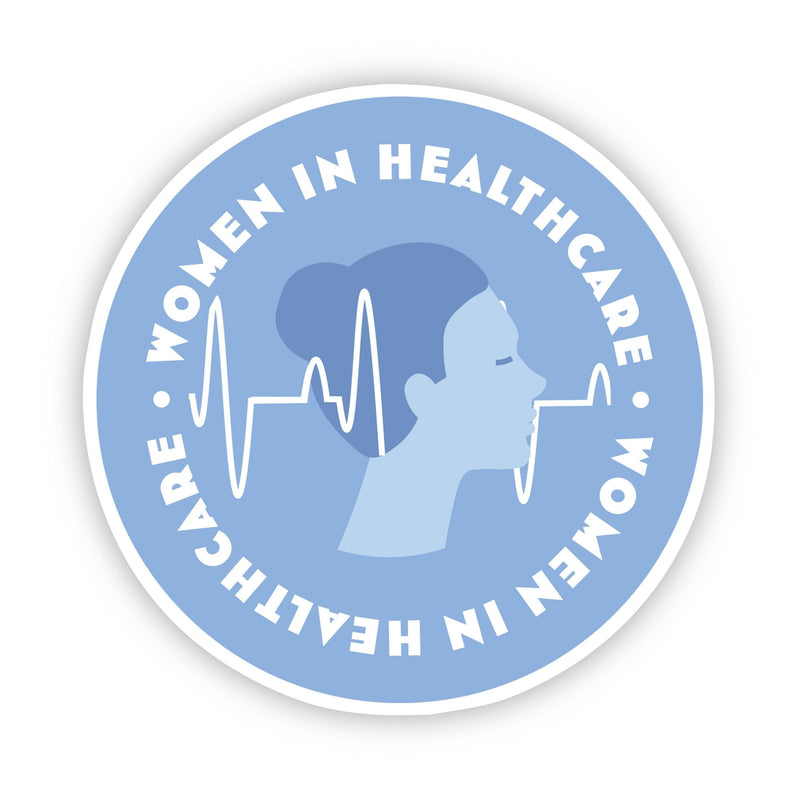 Women in Healthcare Blue Sticker
