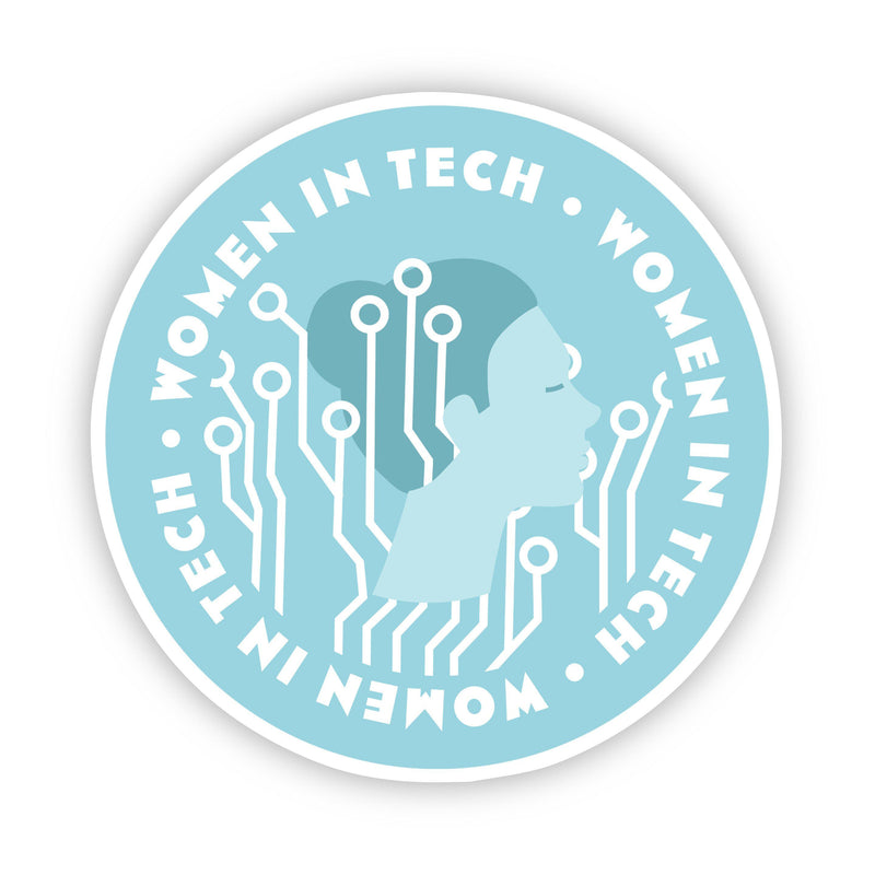 Women in Tech Blue Sticker