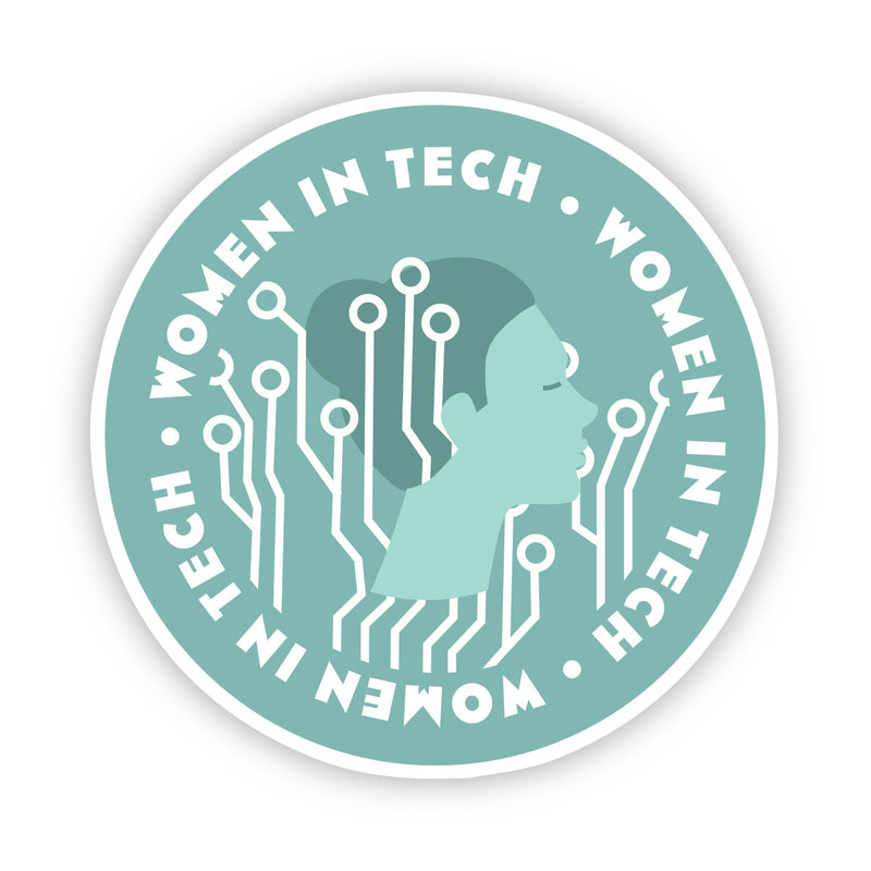 Women in Tech Green Sticker