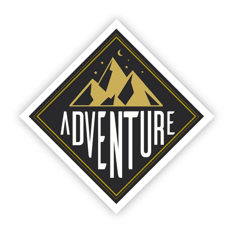 Adventure Mountains Vinyl Sticker