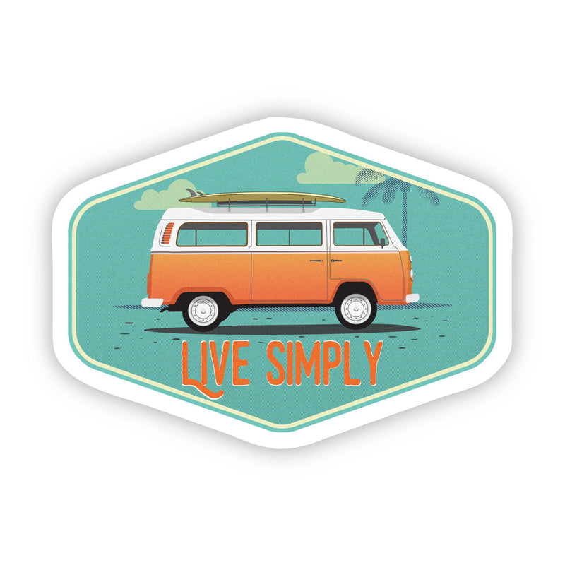 Live Simply Van Sticker