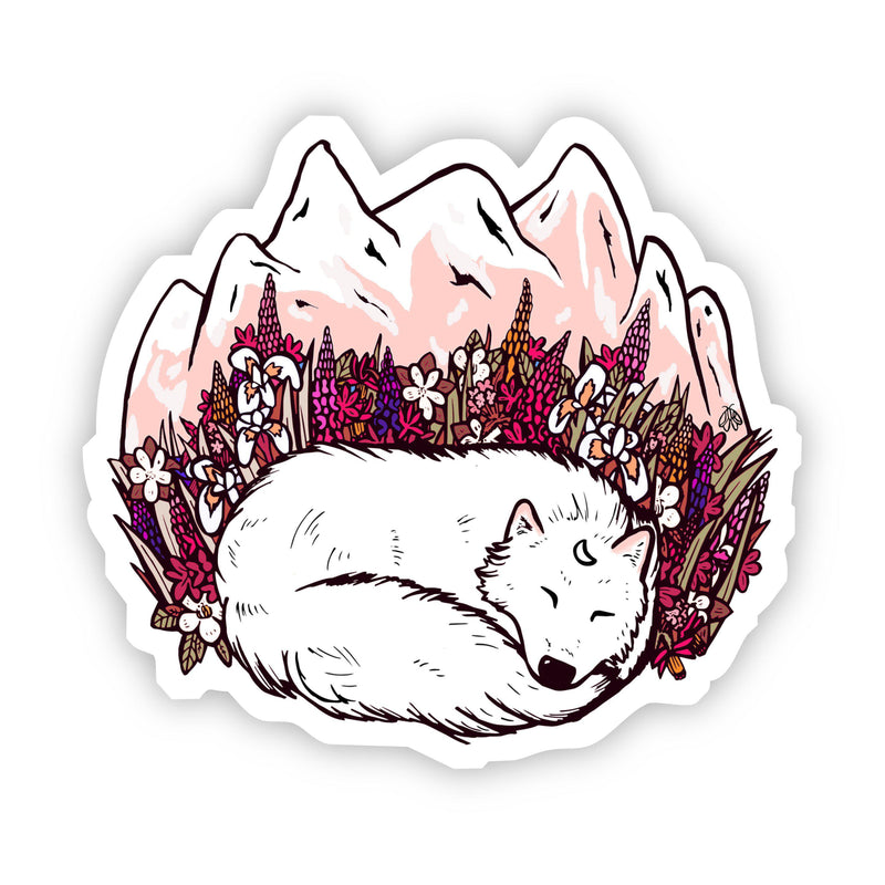 White Fox Mountain Sticker