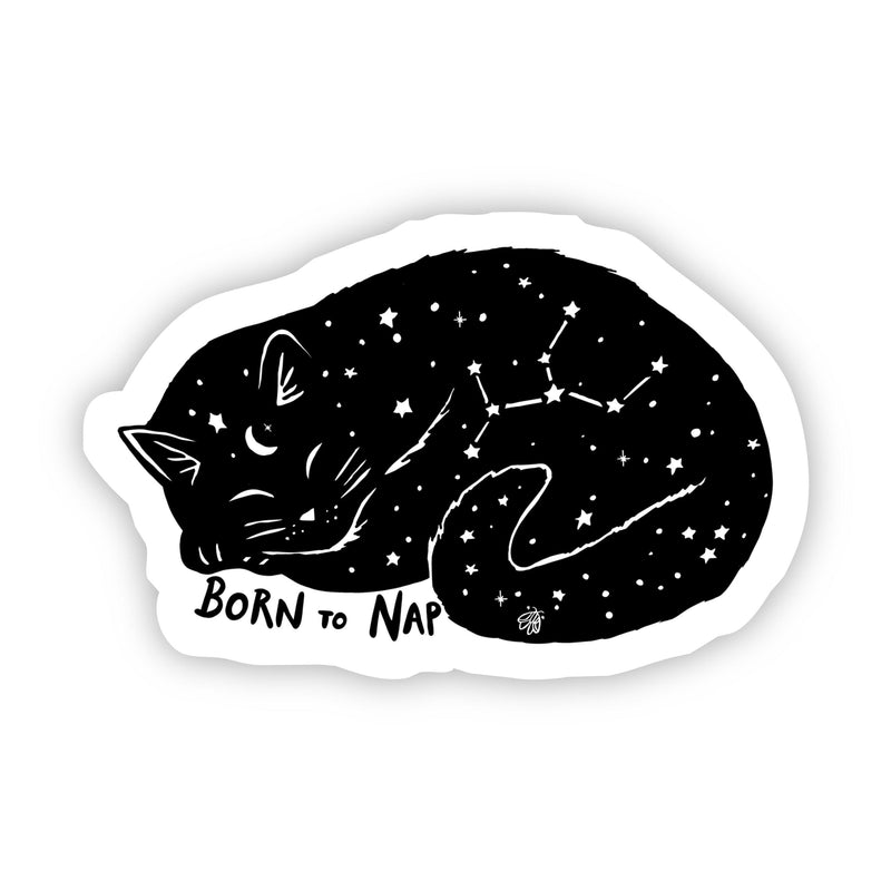 Born to Nap Cat Star Sticker