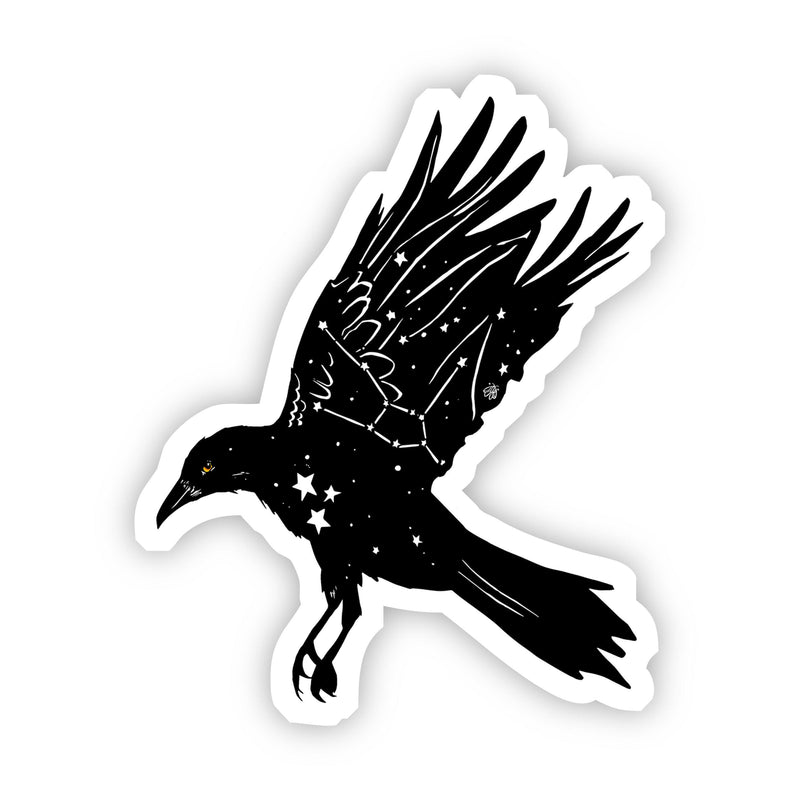 Crow with Stars Sticker