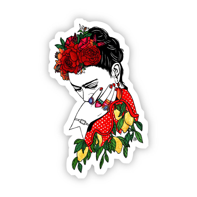 Frida Kahlo - Roses and Lemons Sticker