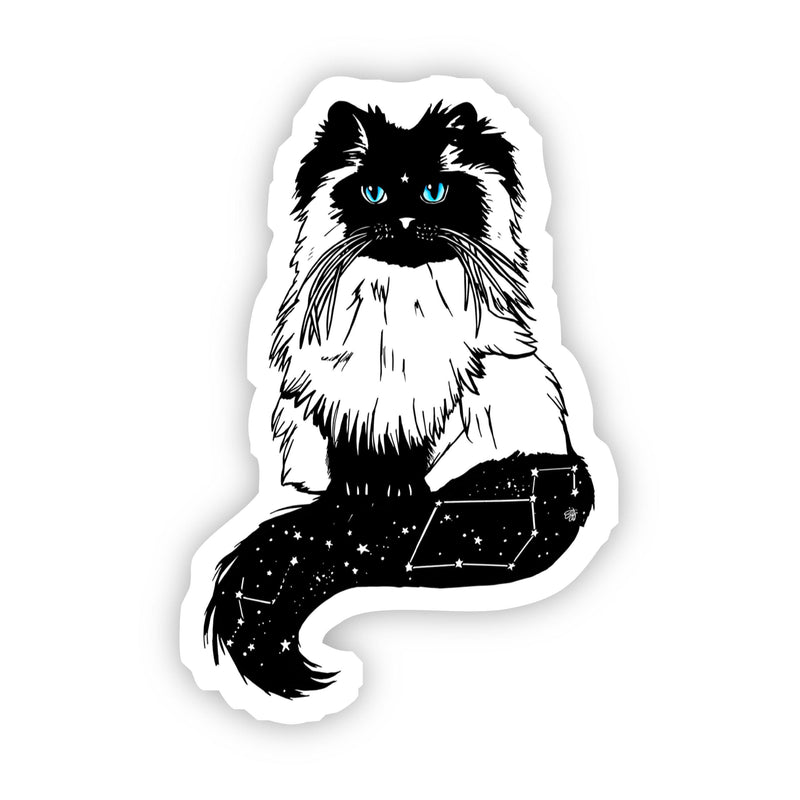 White Cat with Blue Eyes Sticker
