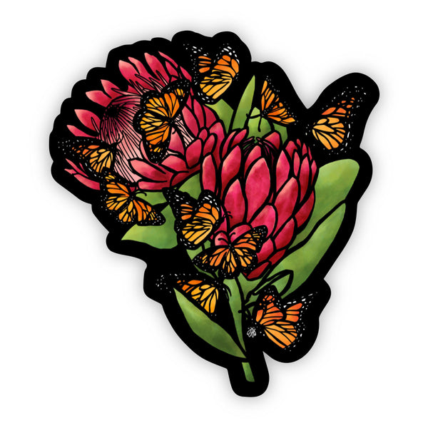 Floral and Butterflies Sticker