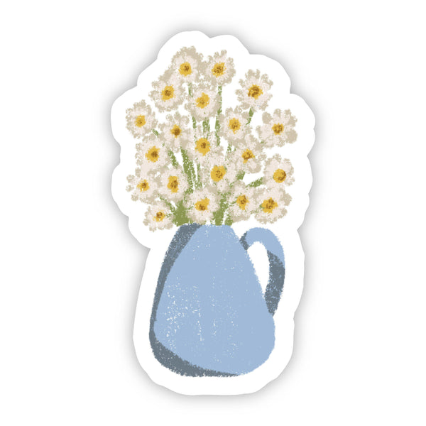 Vase with Dasies Floral Sticker