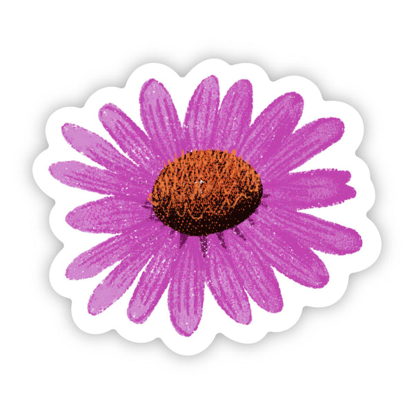 Purple Daisy Floral Sticker