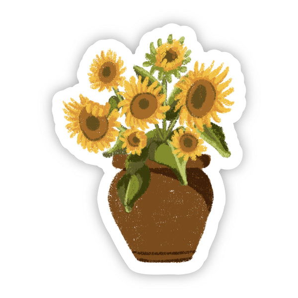 Vase with Sunflowers Floral Sticker