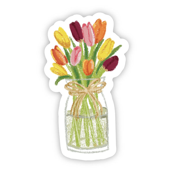 Multicolor Tulips in Vase Sticker