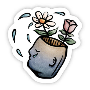 Flower Pot Head Sticker
