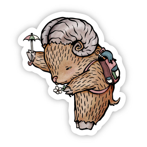 Goat the Protector Sticker 1
