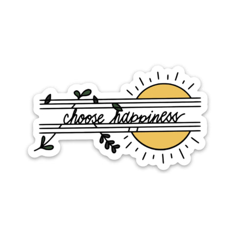 Choose Happiness Sticker - Sun
