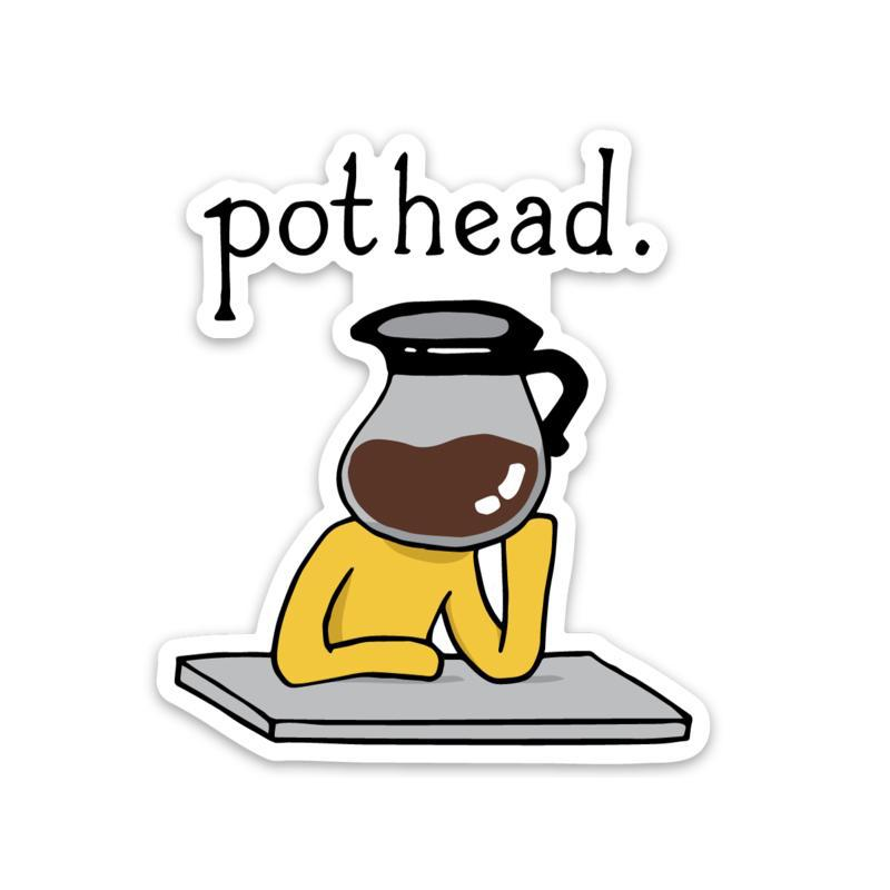 Pothead Coffee Sticker