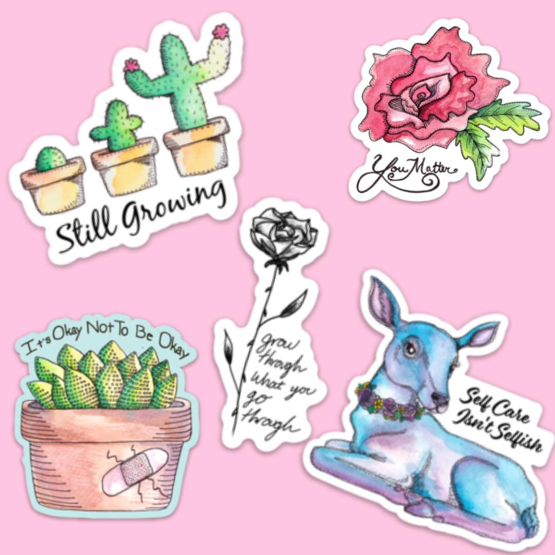 Self Care Sticker 5 Pack