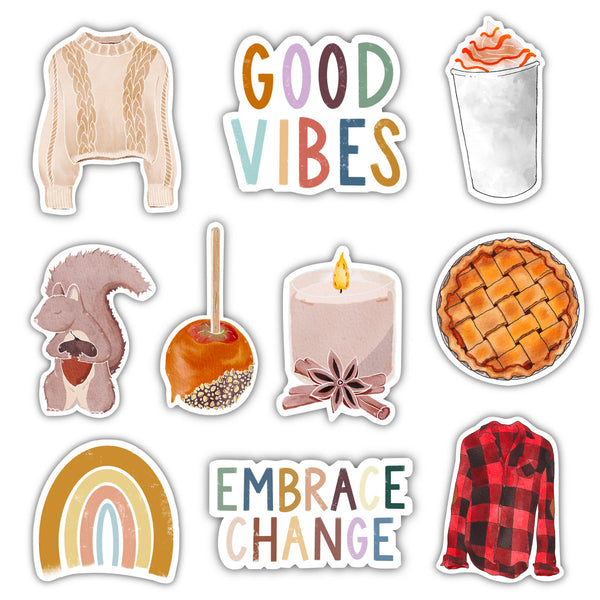 Cozy Vibes Sticker 10 Pack