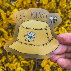 Be Kind Bucket Hat - Clear Sticker