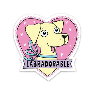 Labradorable Sticker - Yellow Lab
