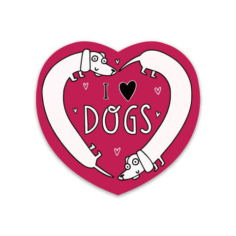 I Love Dogs Sticker