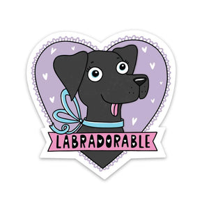 Labradorable Sticker - Black Lab
