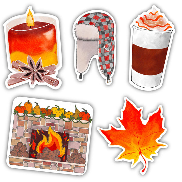 Fall Sticker 5 Pack
