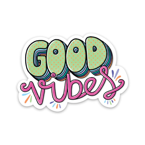 Good Vibes Sticker - Hand Lettering