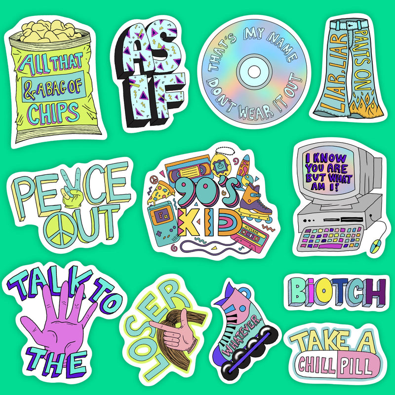 90s Sticker 12 Pack Classic