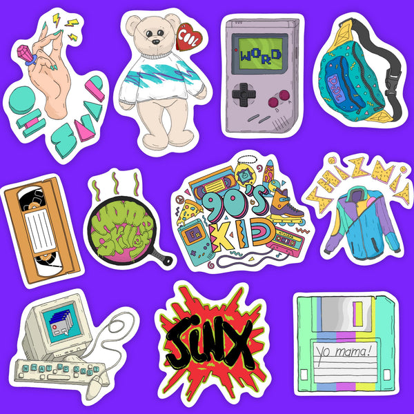 90s Sticker 11 Pack Prime