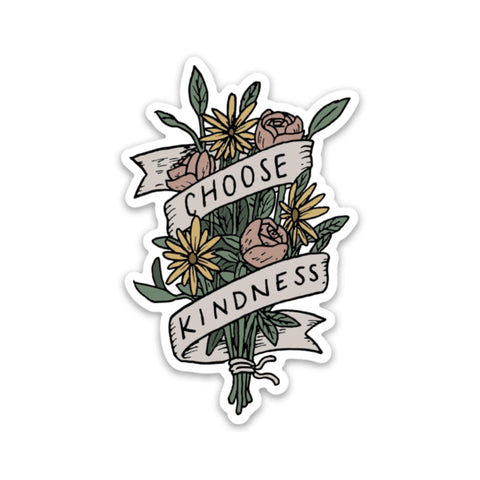 Choose Kindness Bouquet Sticker