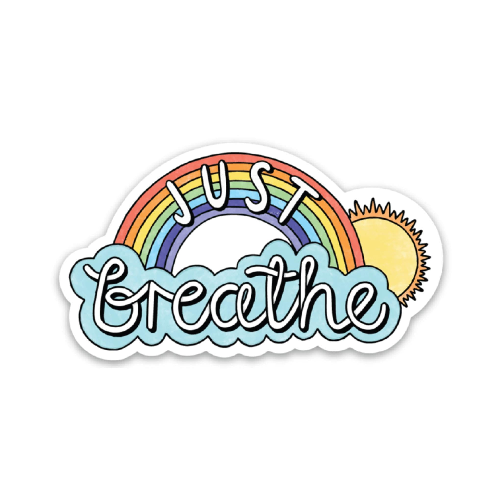 Just Breathe Sticker